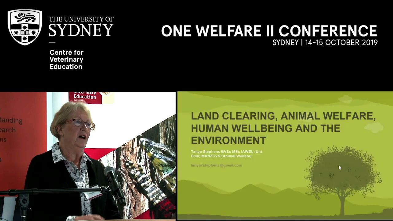 Land clearing, animal welfare and human wellbeing