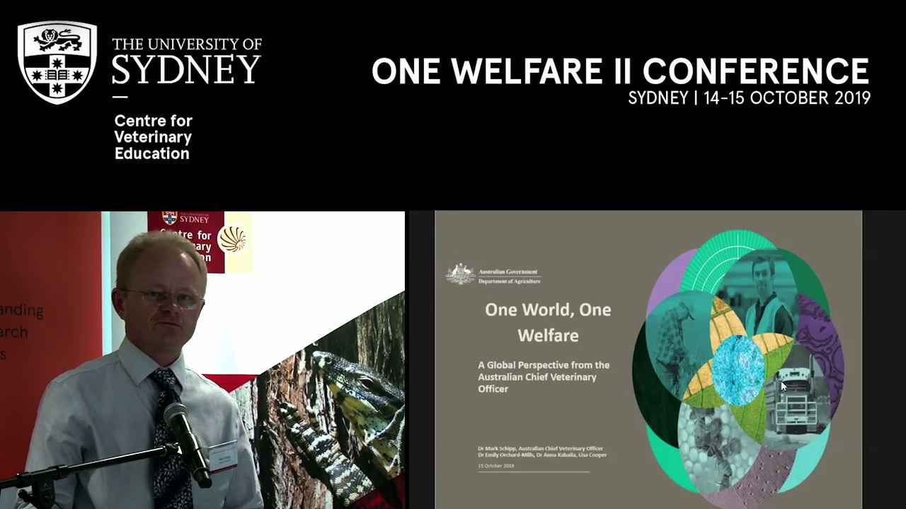 One World, One Welfare: A Global Perspective from the Australian Chief Veterinary Officer