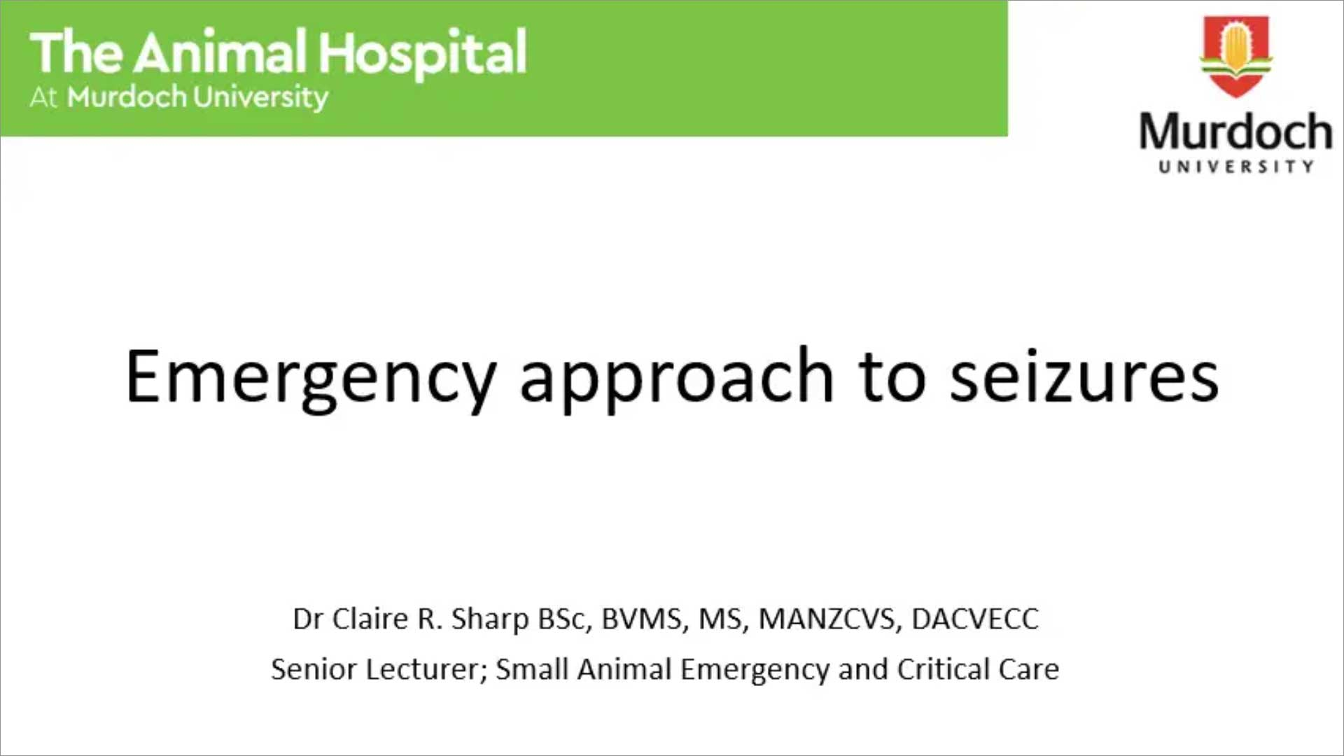 Emergency Management of Seizures