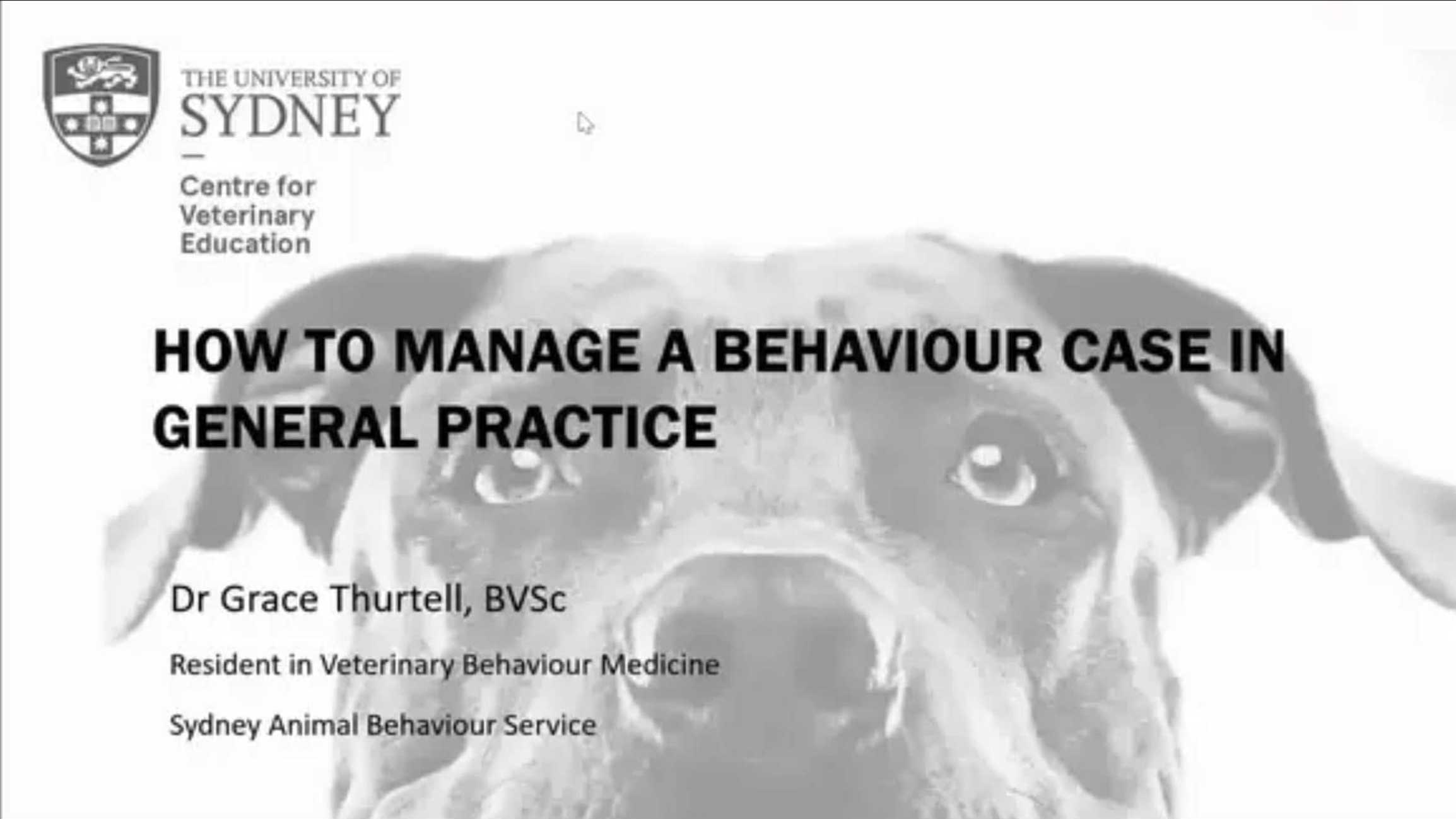 How to Approach a Behaviour Case in General Practice